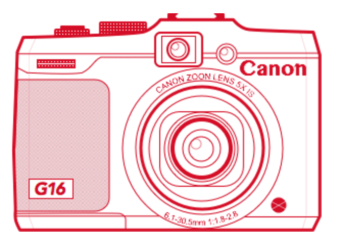 canon powershot g16 illustration