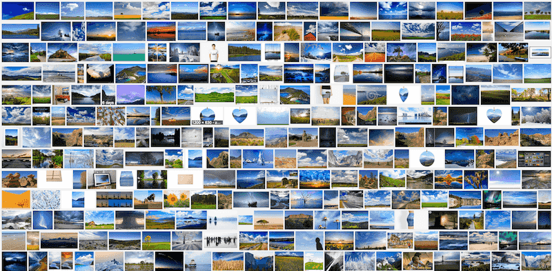 Google images' search results. Query: landscape with blue sky