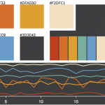 Dark color palette for data visualization - 2018